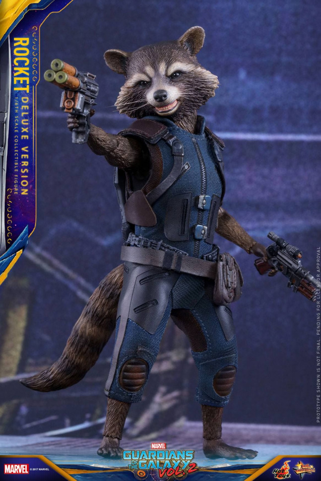 Фигурка Енота Ракеты — Hot Toys Guardians of the Galaxy Vol. 2 1/6 Rocket