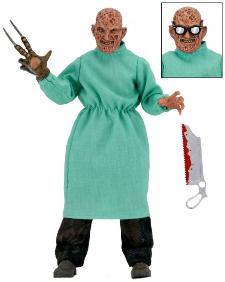 Фигурка Фредди Крюгера — Nightmare on Elm Street 4 Neca Retro Surgeon Freddy
